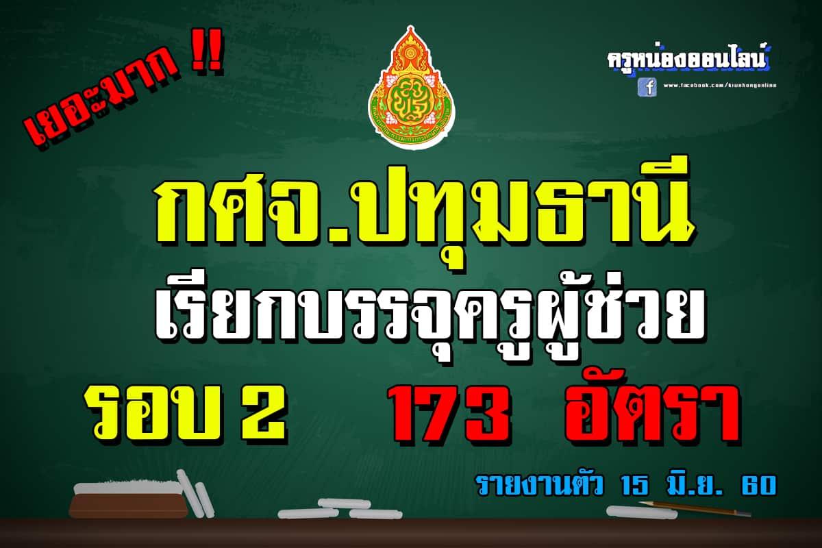 ปทุมธานี เรียกบรรจุครูผู้ช่วย จำนวน 173 อัตรา !!!